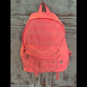 VS PINK Coral Aztec Print Canvas Backpack